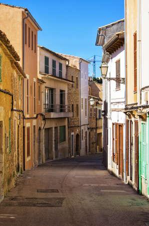 Narrow street of Puerto de Soller - Mallorca, Spain