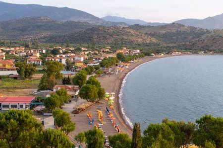 Beach of Anaxos Skoutarou - Lesbos, Greece Stok Fotoğraf - 155420818