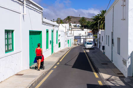 Famous Haria village on Lanzarote Island - Spain Stok Fotoğraf - 154800047