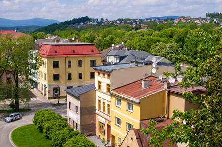 View on Trutnov in Czech Republic