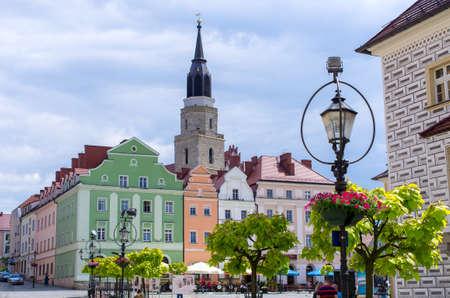 Town square of Boleslawiec - Poland Stok Fotoğraf