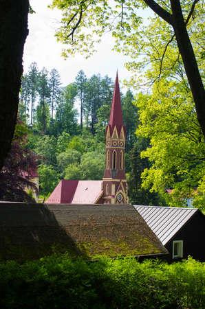 Old church in Trutnov - Czech Republic Stok Fotoğraf