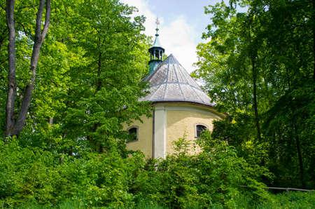 Chapel hill in Trutnov - memorial of battle in 1866, Czech Republic Stok Fotoğraf
