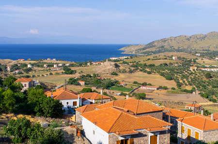 Sea shore on Lesbos Island, Greece
