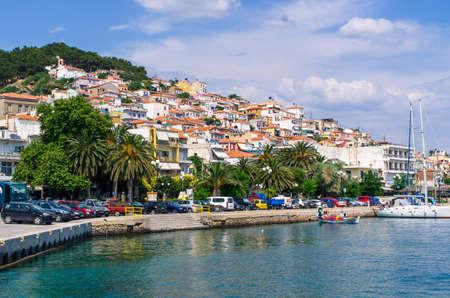 Plomari on Lesbos island - Greece Stok Fotoğraf