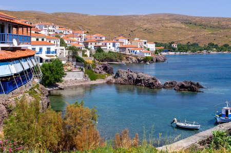 Sigri - little village on Lesbos island - Greece Stok Fotoğraf - 158226199