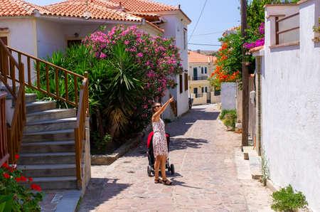 Sigri - little village on Lesbos island - Greece Stok Fotoğraf - 158648020