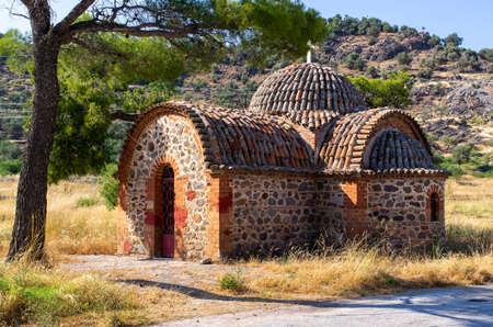 Saint Ignatios monastery on Lesbos island - Greece