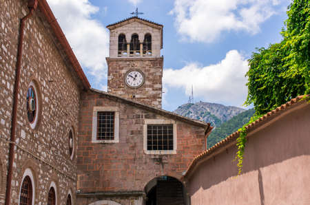 Famous church in Agiasos village - Lesbos, Greece