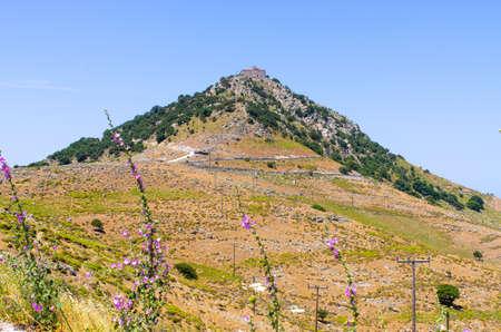 Moni Agiou Ioannou Theologou monastery - Lesbos, Greece Stok Fotoğraf