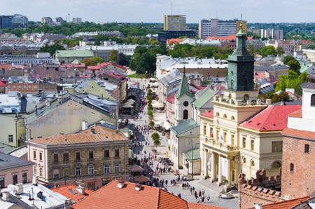 Famous Krakowskie Przedmiescie street in Lublin - Poland