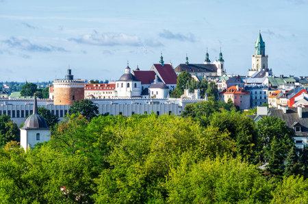 Green cityscape of Lublin - Poland