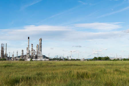industry power: Petrochemical industry power station in afternoon of Thailand