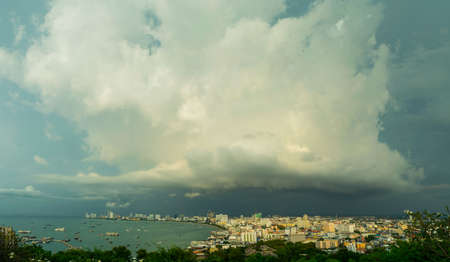 storm coming: Panorama Storm Clouds is coming in pattaya city