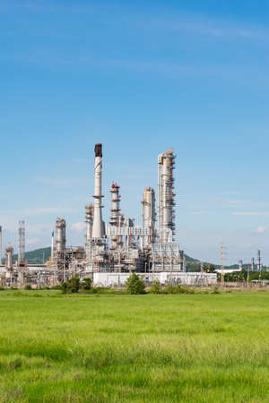 industria petroquimica: Petrochemical industry power station in afternoon of Thailand