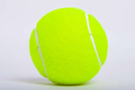 Tennis ball isolate on white background Stock Photo