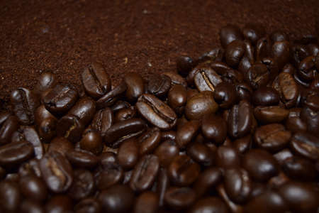 bracing: Coffee beans. .