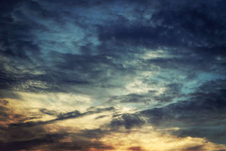 dark blue: sky at sunset Stock Photo