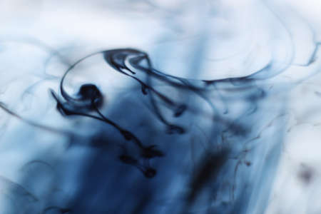 dissolve: ink dissolve in water Stock Photo