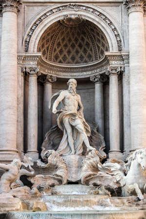 beeldhouwwerk bij de waterfontein van Rome