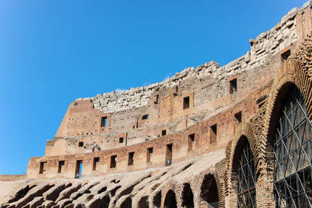 old ruins of colosseum in rome