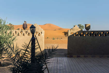 moroccan building in sahara desert 版權商用圖片