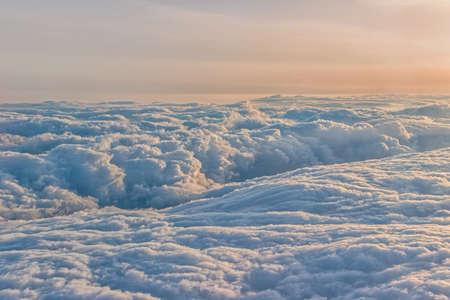 sunshine on cloud outside plane Reklamní fotografie
