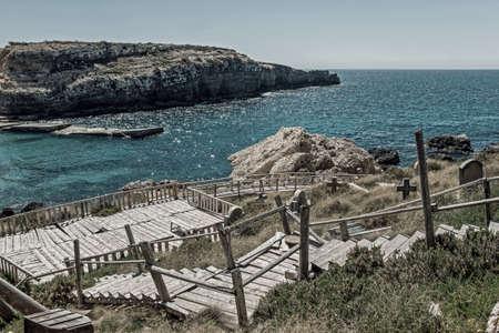coastline at Popeye Village in Malta