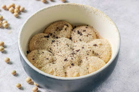 soy milk custard cake in bowl Reklamní fotografie