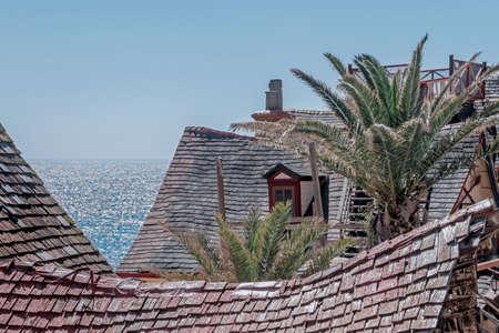 buildings in Popeye Village in malta