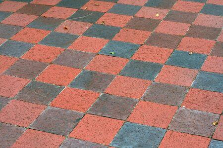 checker board: Caminata de cemento como un inspector bordo de patr�n.  Foto de archivo