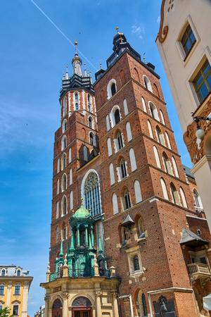St. Marys catholic church Bazylika Mariacka in Krakow, Poland