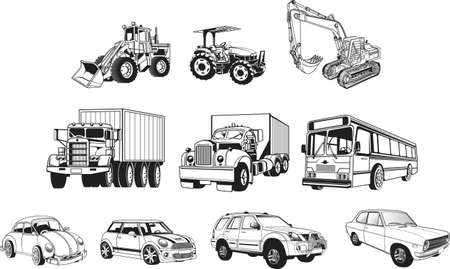lift trucks: transportation Illustration