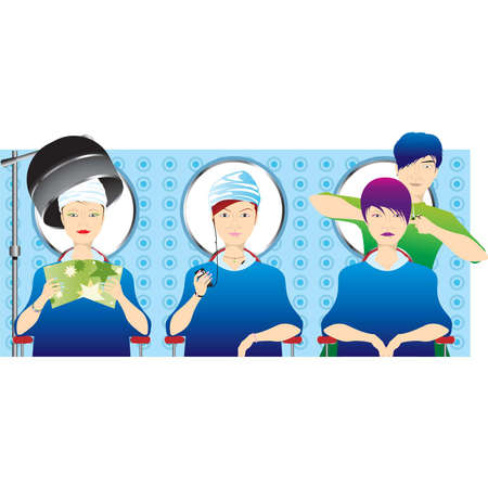 woman washing face: give me new hair style