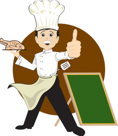 try my delicious cuisine Vector