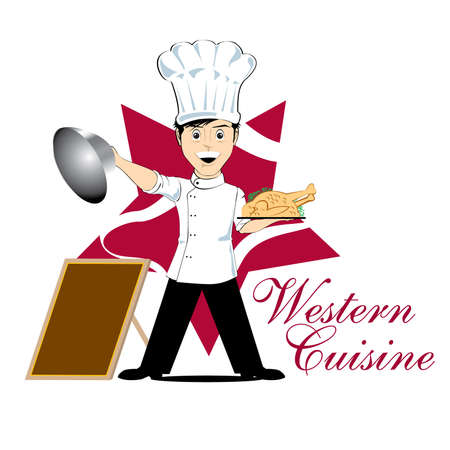 western cuisine Vector