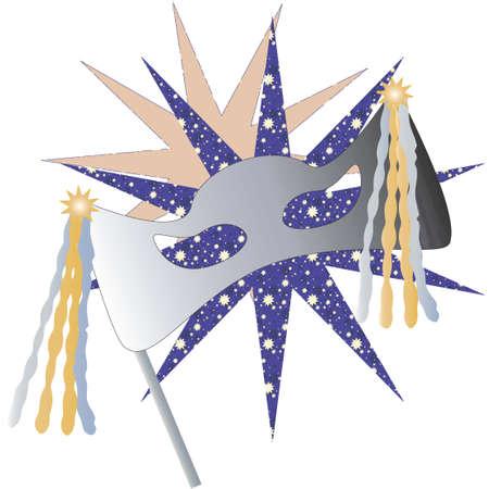 Party Mask Illustration