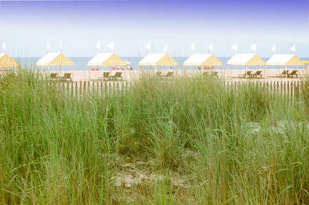 Beach Pavilions Stock Photo