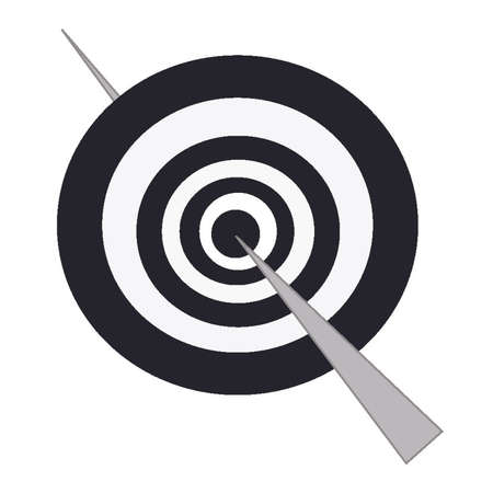 Stick passing through bullseye of concentric circles