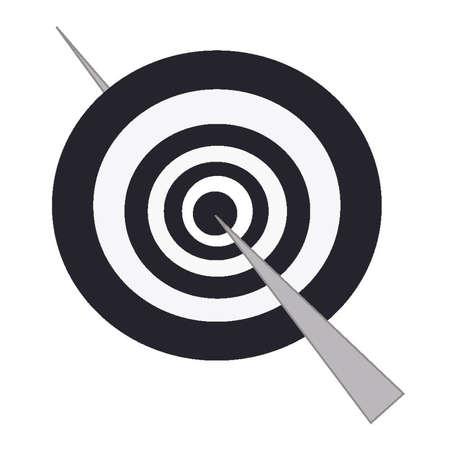 Stick passing through bullseye of concentric circles