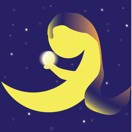 Moon with Orb Stock Vector - 3788738