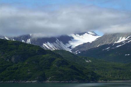 View of Mountain along Alaska Inside Passage