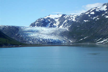 View of Glacier along Alaska Inside Passage