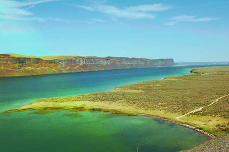 reclamation: Grand Coulee Waterway Stock Photo