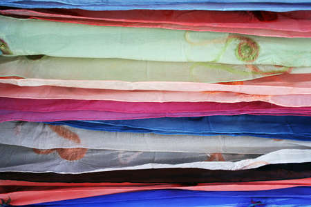 Layers of sheer fabric for texture or background Standard-Bild