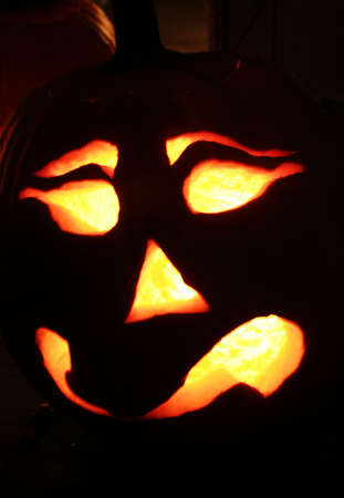 Halloween Jack o Lantern with twisted smile