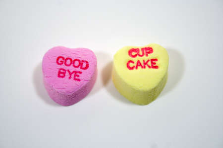 Valentine hearts with various sentiments