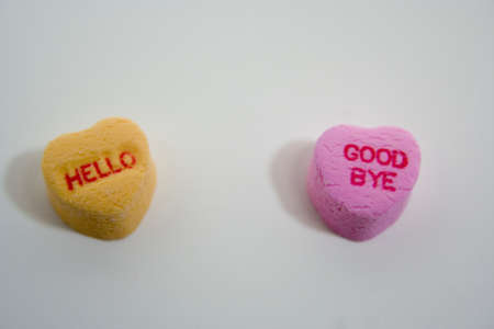 Valentine hearts with various sentiments photo