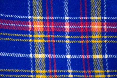 Background picnic blanket blue yellow red white texture