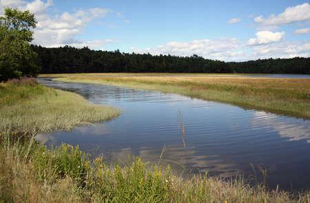 Penobscot river tributary in Winterport Maine